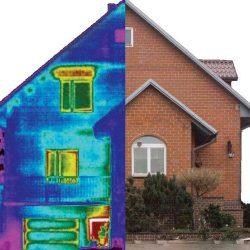 Termografia de una casa