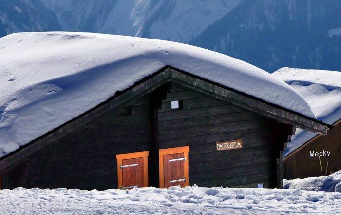 casa con nieve
