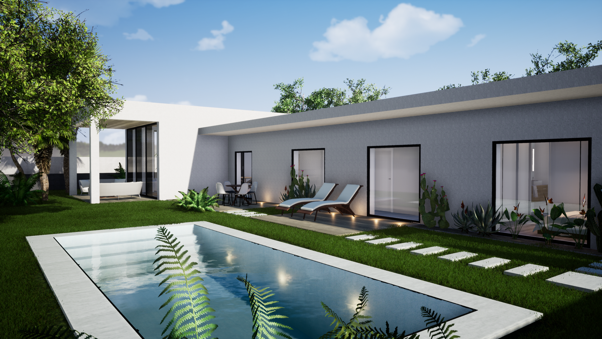Casa con piscina en Zaragoza